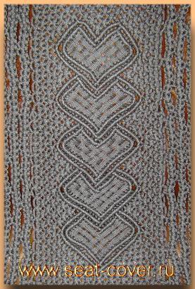 Узор плетеной накидки сердечками